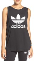 adidas Women's Trefoil Logo Relaxed Fit Tank