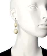 Blu Bijoux Gold And Cream Double Drop Earrings