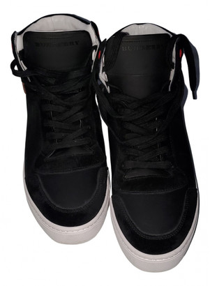 Burberry Black Suede Lace ups