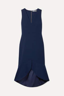 Alice + Olivia Blakesley Ruffled Crepe Dress - Navy