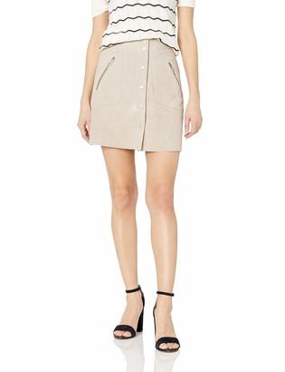 Blank NYC womens73K-0356Suede Mini Skirt - Beige - 29