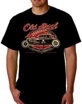 Lucky Ride GearHead Speed Shop Vintage Tee Hot Rod Car Old School Tee