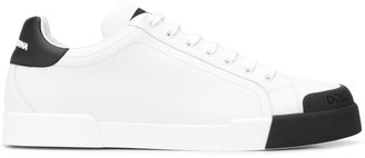 Dolce & Gabbana Contrast Toe Leather Trainers