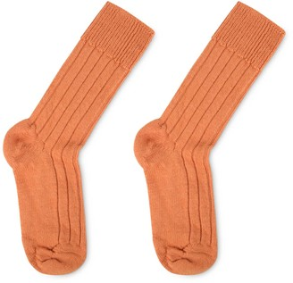 Heating & Plumbing London Luxury Lounge Socks In Alpaca - Orange