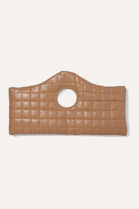 A.W.A.K.E. Mode Liv Quilted Faux Leather Tote - Beige