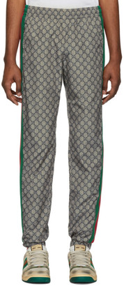 Gucci Brown Nylon GG Oversized Lounge Pants