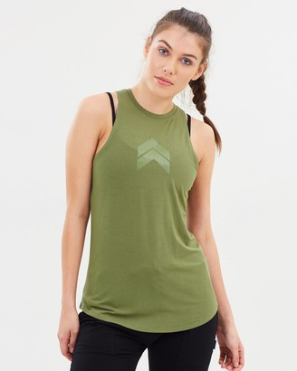 Pilot Athletic - Women's Green Singlets - Jacqueline High-Neck Singlet - Size One Size, XS at The Iconic