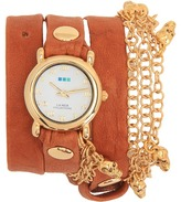 La Mer Gold Skull Charms Wrap (Tobacco/Gold) - Jewelry