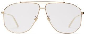 Gucci Aviator Metal Glasses - Gold