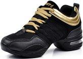 DADAWEN Women's Athletic Fitness Jazz Modern Rockit Dance Sneaker - 5.5 US