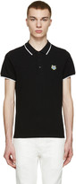 Kenzo Black Embroidered Tiger Polo
