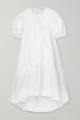 Cecilie Bahnsen Esme Tiered Sateen Dress - White