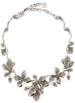 Oscar de la Renta Gradient Crystal Flower Necklace