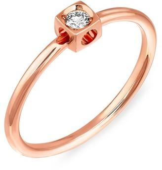 Dinh Van Le Cube Diamond 18K Rose Gold Ring