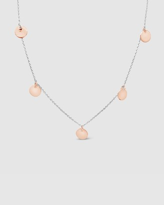 Ichu Rose Gold Multi Disk Necklace