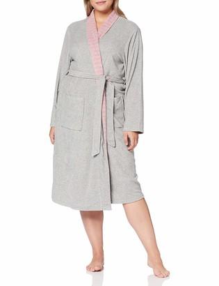 Ulla Popken Women's Nkmbatman Freddie Ls Top Wab Dressing Gown