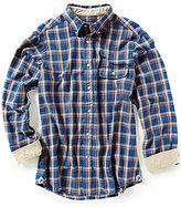 Daniel Cremieux Long-Sleeve Elbow Patch Plaid Woven Shirt