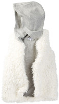 Splendid Hooded Faux Fur Vest (Little Girls)