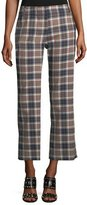 Tory Burch Garret Straight-Leg Plaid Pants