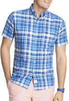 Izod Short-Sleeve Seaside Plaid Woven Shirt