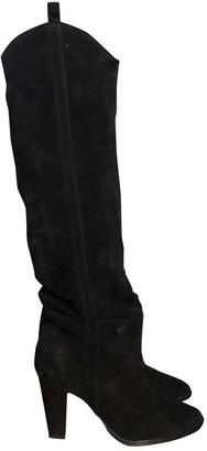 Isabel Marant Navy Velvet Boots