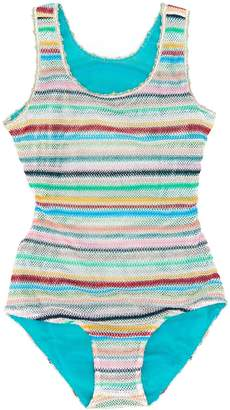 Missoni Kids striped one piece swimsuit