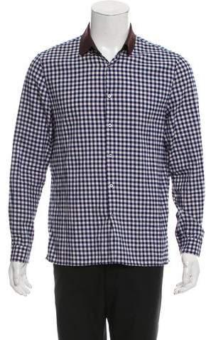 Gucci Gingham Button-Up Shirt
