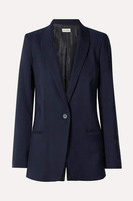 By Malene Birger Auberon Wool-blend Blazer - Midnight blue