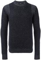 Theory 'Cellan C' cable knit jumper - men - Merino - XL