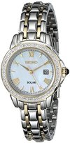Seiko Women's SUT170 Diamond-Accented Two-Tone Stainless Steel Watch with Link Bracelet