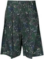 Yoshio Kubo Yoshiokubo Dry Leaf tuck shorts
