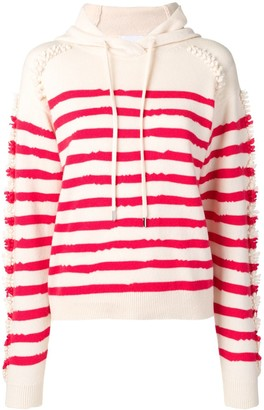 Barrie Stripe Hooded Sweater