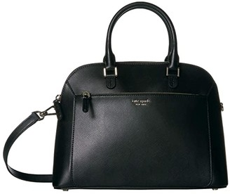 Kate Spade Louise Medium Dome Satchel (Black) Bags