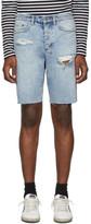 Ksubi Blue Skream Trashed Wolf Shorts