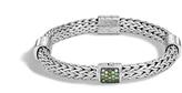 John Hardy Women's Classic Chain 7.5MM Bracelet in Sterling Silver with Mandarin Garnet
