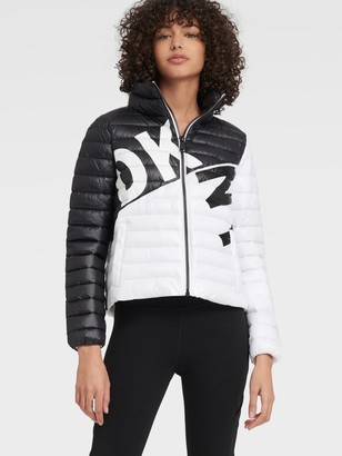 DKNY Logo Packable Puffer