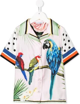 Dolce & Gabbana Kids Sicilian Jungle print blouse