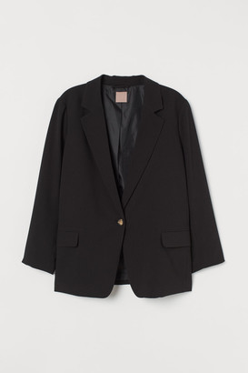 H&M H&M+ Single-breasted Blazer - Black