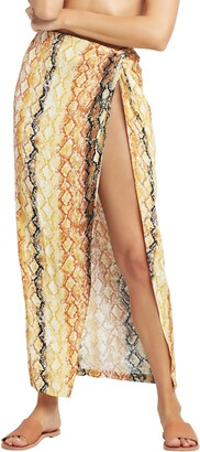 L-Space Mia Animal Print Cover-Up Skirt