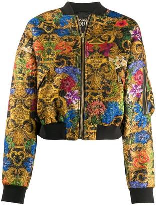 Versace Floral-Print Bomber Jacket