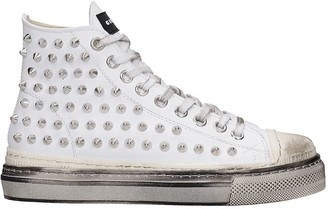 Gienchi J.m. High Sneakers In White Leather