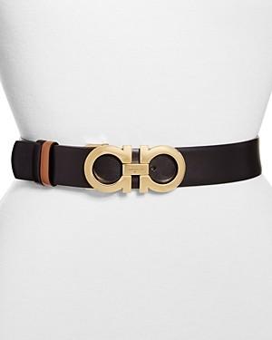 Salvatore Ferragamo Women's Gancini Reversible Leather Belt