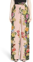 Etro Women's Largo Floral Print Silk Pants