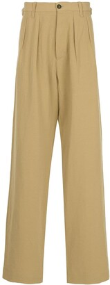 Kent & Curwen High Waisted Loose Fit Trousers