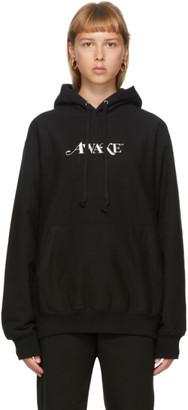 Awake NY SSENSE Exclusive Black Embroidered Logo Hoodie