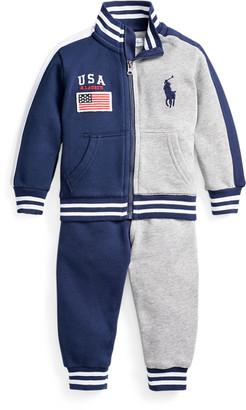 Ralph Lauren Cotton Terry Jacket & Trouser Set