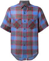 Facetasm checked shortsleeved shirt - men - Nylon/Wool - 3