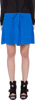 Co Blue Silk Drawstring Skirt