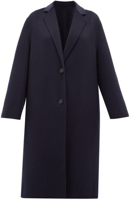 Joseph Newman Single-breasted Wool-blend Coat - Womens - Navy