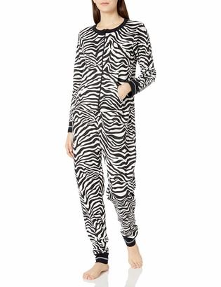 Mae Amazon Brand Women's Sleepwear Vintage Thermal Loose Fit Onesie